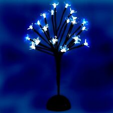 LED White Christmas Bonsai Battery Operated 40cm Cherry Blossom Tree 24 Lights