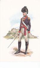 MILITARY STADDEN POSTCARD OFFICER THE ROYAL JERSEY ARTILLERY MILITIA 1772