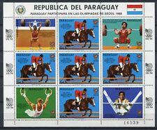 PARAGUAY 1986 Olympiade Olympics Seoul 1988 Reiter Pferd 4053 Kleinbogen ** MNH