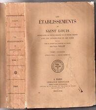 PAUL VIOLLET LES ETABLISSEMENTS DE SAINT LOUIS 1881 EO TOME 1 DROIT MEDIEVAL
