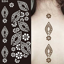 New India Mehndi Hand Leg Henna Painted Stencil Art Temporary Tattoo Template UK