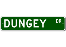 DUNGEY Street Sign - Personalized Last Name Signs