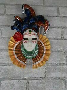 Design Toscano Jester Masks of Venice Wall  Sculpture Polyresin
