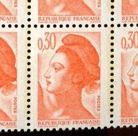 TIMBRE VARIETES : LIBERTE : 0,30 ORANGE N° Yvert : 2182 L08V