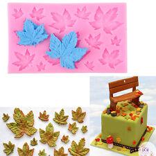 3D Maple Leaf Silicone Fondant Mold Cake Decorating Chocolate Baking Mould Tools