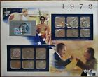 1972 United States Uncirculated Mint Set Panel - Postal Commemorative Society