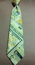 Vintage Corsair Clip On Tie Newspaper Gold St 00004000 rike Tie