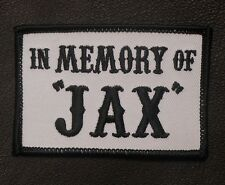 IN MEMORY OF JAX AND OTHER NAMES MILITARY BIKER OUTLAW  HOOK PATCH MADE IN USA