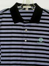 Peter Millar Mens S/S Black Purple Ironwood C.C. Golf Polo Shirt Nwot - Medium