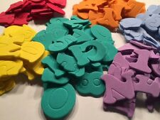 ABC-Alphabet Zahl Sticker Moosgummi Aufkleber Buchstaben Schultüte bunt gemischt