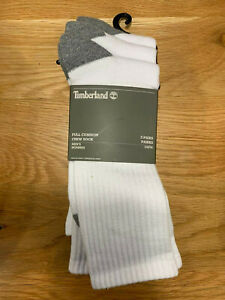 Timberland 3 Pairs Full Cushion Crew White Socks (US Men's 9-12)
