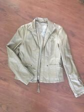 Big Chill Vintage Faux Leather Metallic Gold Jacket Sz medium