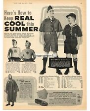 1959 Boy Scout Official Clothing Uniforms Ponchos Gear 2-sided Vtg Print Ad