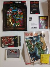 Secret of Evermore (Super Nintendo SNES, 1995) Complete w/ Poster Map GOOD H