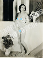Vintage 8x10 Risque Pin Up nude woman in studio 30s 40s