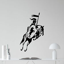 Knight Wall Decal Horse Medieval Vinyl Sticker Military Poster Home Decor 144nnn
