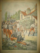 SAINT-CYR MANOEUVRES TRANSVAAL PROCLAMATION KITCHENER LE PETIT PARISIEN 1901