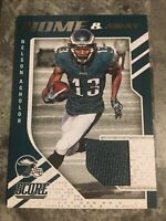 Nelson Agholor Philadelphia Eagles 2018 Score Home & Away Jersey Patch Card
