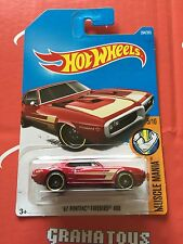 67 Pontiac Firebird 400 #284 Red 2017 Hot Wheels Case M