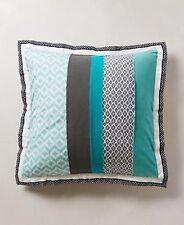 NIP Anthropologie MANDALAY Set/2 Euro Shams Cotton Geometric Colorblock