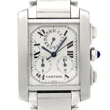 Cartier Steel Tank Francaise 2303 Quartz Chronograph Wrist Watch