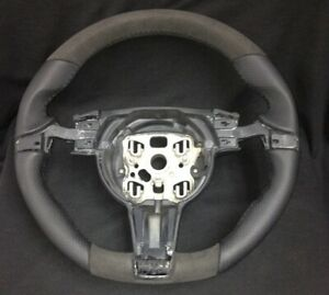 10'-11' Porsche Panamera 970/Cayenne 958 Alcantara/leather sport steering wheel
