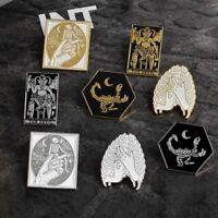 Enamel Punk Brooch Jacket Lapel Pin Alloy Badge Brooch Halloween Jewelry 9Gu.