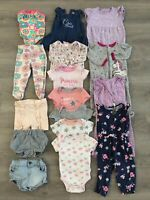 Baby Girl Clothing Lot, 16 Items, 6-9 Months, Carter's, Old Navy, Calvin Klein