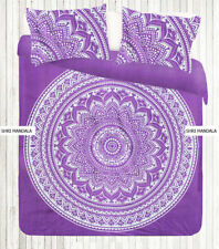 Purple Ombre Mandala Bedding Set Throw Boho Hippie Queen Size Bed Sheet Tapestry