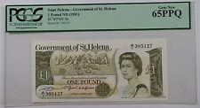 (1981) Government of Saint Helena 1 Pound Note SCWPM# 9a PCGS 65 PPQ Gem New