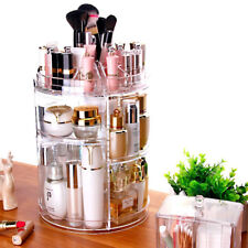 360° Acrylic Makeup Organizer Spin Cosmetic Case Holder Jewelry Storage Box CA