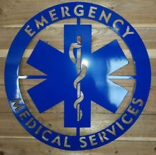 "24"" Emergency Medical Services Wall sign WALL ART. CNC PLASMA Metal DECOR"