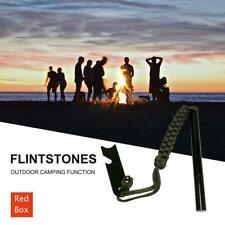 Ferrocerium Flint Rod 15cm x 1.2cm Survival Fire Starter with Striker Para-cord/