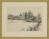 Robert F. Micklewright RWS (1923-2013) - Pen and Ink Drawing, Church Fields
