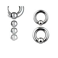 "Pair 2g 1/2"" Dia. easy pop out spring load captive bead ring no need tool open"