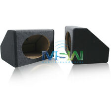 """NEW TWIN WEDGE-STYLE 6""""x9"""" SEALED MDF CAR STEREO SPEAKER BOX ENCLOSURES 6x9 PAIR"""