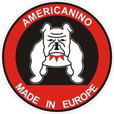"""""""AMERICANINO"""" MEGA ADESIVO NUOVO DI 10 cm CON IL BULL DOG ANNI 80 (PANINARO)"""