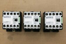 Qty 3 - Moeller contactor DIL ER-40 40E 120Vcoil 4 pole 10Amp - used excellent