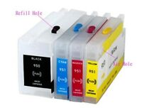 4 Refillable Empty Cartridges For HP 950 951 Officejet Pro 8600 8100 RCA Chip