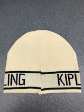 Cappello kipling, in lana, beige e rifiniture in nero, misura M