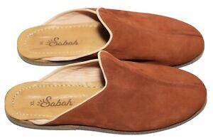 SUEDE LEATHER HANDMADE SABAH XL 11 HOUSE SLIPPERS MULES SHOES