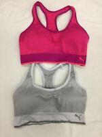 PUMA Women's Seamless Bra, Pink/White, Extra Large - 2 Pack