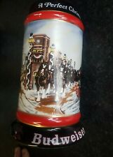More details for 1992 budweiser stein collectors series by artist susan sampsom