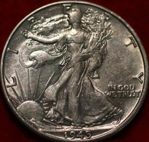1945-D Denver Mint Silver Walking Liberty Half