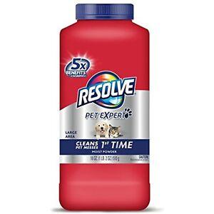 Resolve Pet Carpet Cleaner Powder, 18 oz Bottle, For Dirt Stain & Odor Removal