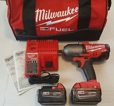 "Milwaukee M18 FUEL 1/2"" High Torque Impact Wrench Kit 2) 5.0Ah Batteries 2763-22"