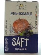 Apfel Heidelbeersaft naturtrüb, 4x5 Liter Bag in Box, 100% Direktsaft ,1,70 €/L