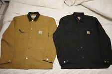 XL Carthartt Whip Chore Coat Tan and Black Lot of 2