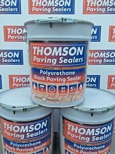 THOMSON Wet look driveway sealer block paving -patio sealant 20ltrs hard wearing
