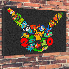 """Pokemon Characters Pikachu Baseball Printed Canvas Picture A1.30""""x20""""30mm Deep"""